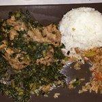 Pork ribs with kale