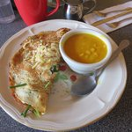 Special crepe!  Yellow split pea soup