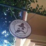 Cowboy Cookie Ice Cream Sign