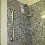 one grab bar--high shower head