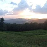 skyline drive at sunset