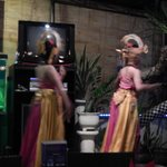 The two dancers on the stage