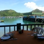View from my table of the harbour