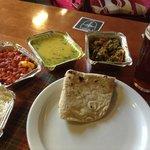 Indian food, English beer!