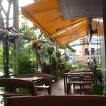 outdoor bar/restaurant area