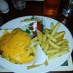 lasanga and chips (was very cheesy)
