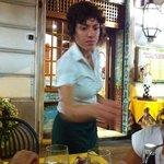 Waitress ...very polite !