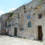 Esterno chiesa rupestre Santa Lucia alle Malve