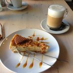 Honey and waffle cheesecake