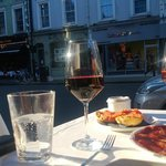 Scenic view over Brompton Road from the outside table (featuring Pata Negra Ham)