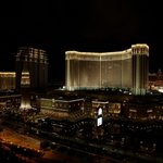 The view from our room on level 33 towards the Venetian at night