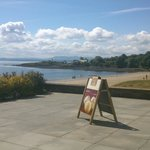 View along the Silver Sands in Aberdour