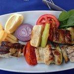 Leer fish kebab