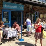 Harbour Cafe,East Looe Quay.. next to Looe Fish Market.
