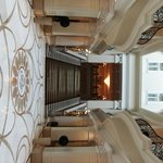 The rather grand stairs leading to the ballroom