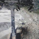 Hintertux cable car descent from top