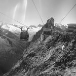 Hintertux cable car final ascent of 3 stages