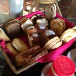 Assortment of wonderful breads from nearby German bakery available at breakfast every day