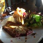 The husband's fab steak