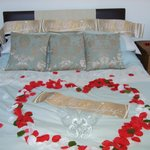 Bedroom ready for Wedding night guests