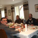 Guests from Brittany and the Vendée enjoy their meal