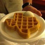 Texas shaped waffle!