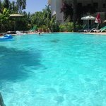 Lovely, unusually big pool.