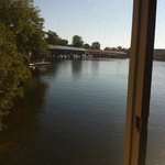 awesome view from the bedrooms of the boathouse