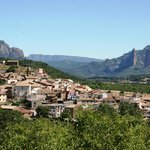 The view of the village from the high vineyard of Fiŕe de Pegalaz