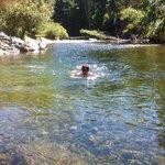 Cedar Grove Campground swimming hole