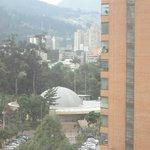 Planetário visto do corredor do hotel