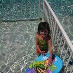 Theresa in the Pool