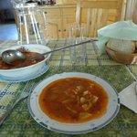 zuppa con ingredienti dell orto