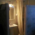 Coin salle de bains sans porte...