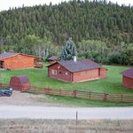 Ranch house and cabin