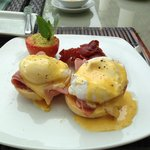 Perfectly prepared eggs benedict. Delicious!
