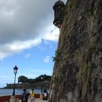 Old San Juan city wall and sentry outpost