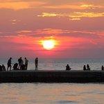 pôr do sol em Zadar