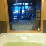 The spa bath with bay view