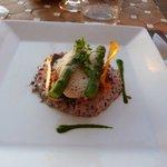 Negrito mit Venere Reis und Spargel