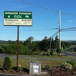 Watch for the sign - the Inn is located well off the road, on the edge of town.
