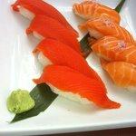 wild and farmed salmon
