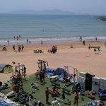 Centre conditionnement physique sur la plage