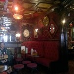 The lovely old fashioned interior