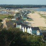 """Hengistbury Head beach hut """"spit"""""""
