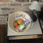 Cesto de frutas.Cortesia