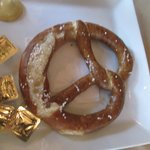 warm, soft, crusty pretzel appetizer