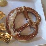 warm, soft, crusty pretzel appetizer