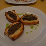 Traditional Crostini Pate' of Sienese spleen & chicken liver