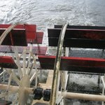Actual working split-sternwheel